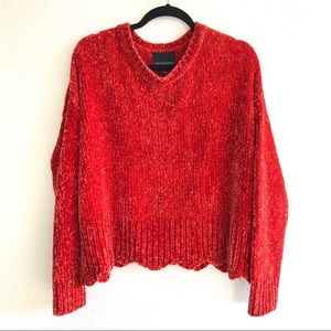 Cynthia Rowley Scallop Bottom Sweater